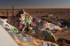 Vue du désert de la montagne de salut, la Californie Images stock