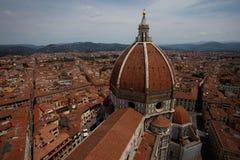 Vue du dôme de la cathédrale Santa Maria del Fiore, Firenze, Italie Images stock