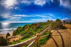 Vue du DA Rocha de Praia Photos stock