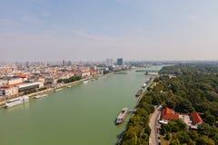 Vue du Danube à Bratislava, Slovaquie Photos libres de droits