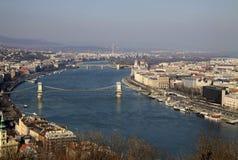 Vue du Danube, Budapest, Hongrie Photographie stock libre de droits