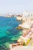Vue du DES Auffes et le port de Vallon de Marseille images stock