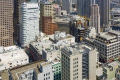 Vue du dessus de toit à l'horizon de San Francisco, Photo libre de droits