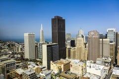 Vue du dessus de toit à la ville de San Francisco Image stock