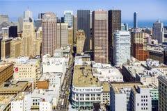 Vue du dessus de toit à la ville de San Francisco Photos libres de droits