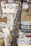 Vue du dessus de toit à la ville de San Francisco Photo libre de droits