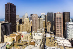 Vue du dessus de toit à la ville de San Francisco Image libre de droits