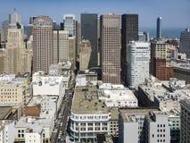 Vue du dessus de toit à la ville de San Francisco Images stock