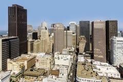 Vue du dessus de toit à la ville de San Francisco Photo stock
