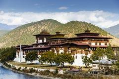 Vue du Dzong dans Punakha Bhutan Image libre de droits