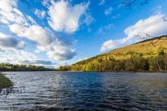 Vue du fleuve Connecticut de l'état Lin de Brattleboro Vermont photo stock