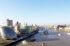 Vue du fleuve la Tamise photos libres de droits