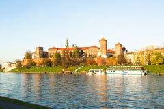 Vue du fleuve Vistule au centre de la ville historique Images stock