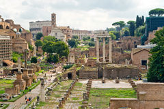Vue du forum romain à Rome Images libres de droits