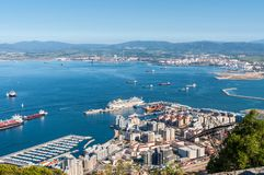 Vue du Gibraltar Image stock
