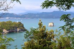 Vue du Golfe des poètes, La Spezia, Italie Photo libre de droits