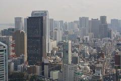 vue du gratte-ciel à la ville de Tokyo photos stock