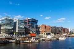 Vue du Hafencity à Hambourg images libres de droits