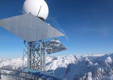 Vue du haut de la montagne de Valluga Image libre de droits
