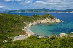 Vue du haut de la plage des AMOs de Krifi sur l'île de la SK Photos stock
