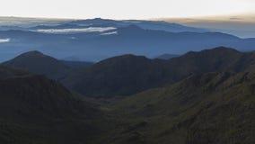 Vue du haut de montagne de Chirripo photo stock
