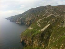 Vue du haut des falaises de Sliabh Liag Images libres de droits