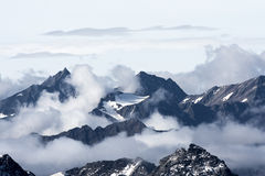 Vue du haut du Kitzsteinhorn photos libres de droits