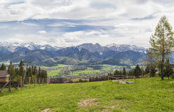 Vue du haut Tatras images stock