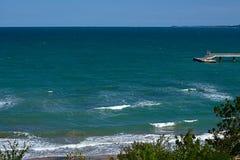Vue du jardin de mer de côte de la Mer Noire de Burgas, Bulgarie image stock