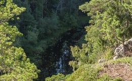 Vue du lac de la montagne Images stock