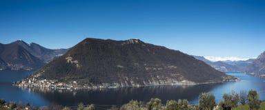 Vue du lac Iseo photographie stock