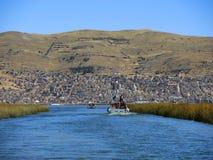 Vue du lac Tititaca, Puno, Pérou image libre de droits