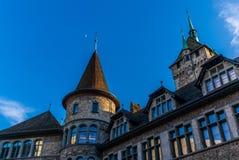 Vue du Landesmuseum à Zurich Images stock