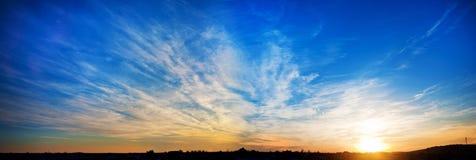 Vue du lever de soleil Photographie stock libre de droits