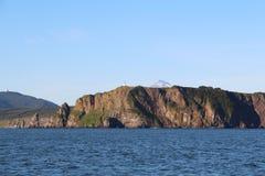 Vue du littoral de la péninsule de Kamchatka, Russie photographie stock