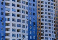 Vue du logement multifamilial images stock