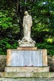 Vue du mémorial sur la rue de Murzzuschlag photographie stock libre de droits