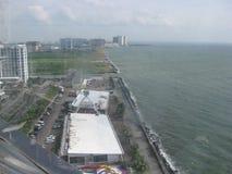 Vue du mail de l'oeil de l'Asie, métro Manille, Philippines photos libres de droits