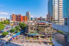 Vue du marché de l'électronique de Guanghua Photos libres de droits