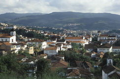 Vue du Marianne, Minas Gerais, Brésil Photographie stock