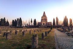 Vue du mausolée et du cimetière d'Adda de ` de Crespi d Image libre de droits