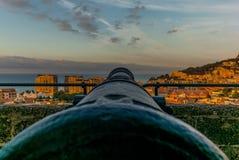 Vue du Monaco à partir du dessus de colline Photo libre de droits