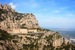 Vue du monastère de Montserrat Image stock