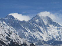 Vue du mont Everest Photographie stock