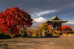 Vue du mont Fuji de parc de Heiwa photos stock