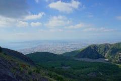 Vue du mont Vésuve Images libres de droits