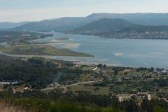 Vue du monte De Santa Tecla en Galicie Photo libre de droits