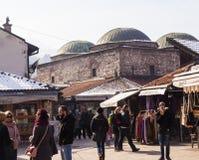 Vue du musée bezistan de Brusa, Sarajevo Images stock