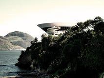 Vue du musée conçu par Oscar Niemeyer photo libre de droits