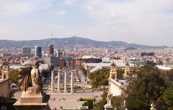 Vue du Musée National de l'art, Barcelone Images libres de droits